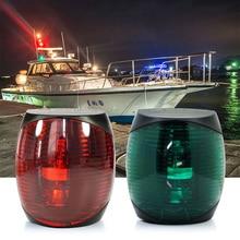 12 v DC Bền Marine Thuyền LED Ánh Sáng 2 wát Màu Đỏ Màu Xanh Lá Cây Trắng Nhựa Navigator Ánh Sáng Đèn Chống Thấm Nước