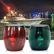 12V DC Marina duradera luz LED de barco 2W rojo verde blanco luz de navegador de plástico lámpara impermeable