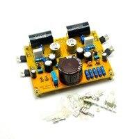 Passe zen single-end classe a amplificador de fone de ouvido 5 w dc 24 v placa de alta fidelidade irf610 mosfet terminado