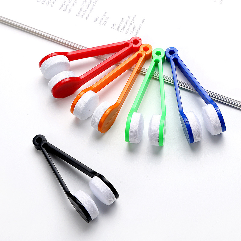 5Color Mini Sun Glasses Eyeglass Microfiber Spectacles Cleaner Brush Cleaning Tool cleaning brush auto cleaning accessories
