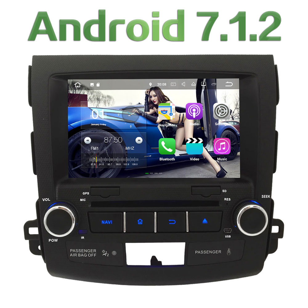 8 Quad Core Android 7 1 2 2GB RAM 4G Car DVD Player Radio For Mitsubishi