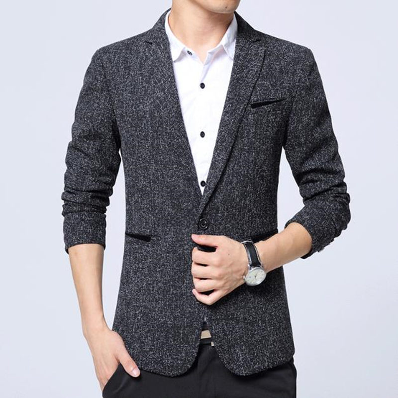 2018 Marke Kleidung Männer Blazer Mode Baumwolle Anzug Blazer Mäntel Slim Fit Maskuline Blazer Casual Solide Colr Männlichen Anzüge Jacke