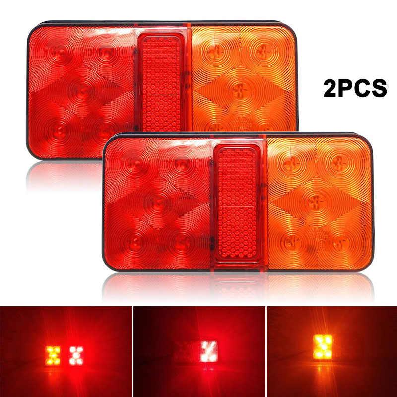 2019 2 шт. 10 светодиодный сигнальный фонарь для грузовика водонепроницаемый прицеп задний тормоз CSL88