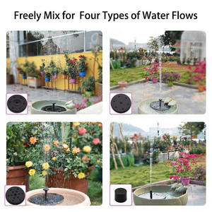 Image 5 - 1.4W Round Shaped Solar Fountain Water Floating Fountain Pump Outdoor Bird Bath Fountain Pool Pump For Pond Garden Decoration