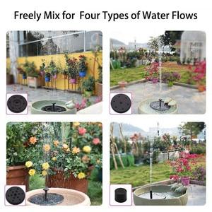Image 5 - Fontaine solaire flottante de forme ronde 1.4W, pompe à eau, bain doiseaux à lextérieur, pour piscine, étang et décoration de jardin