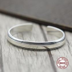S925 Для мужчин браслет в стерлингового серебра личности ретро glory классические простые в стиле панк отправить подарок любить