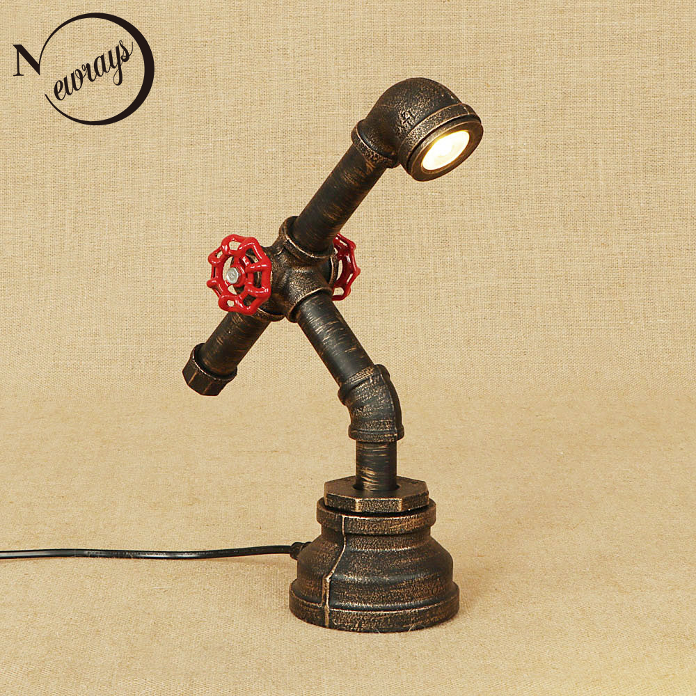 Art Deco Creative Iron Table Lamp Retro Country Desk Lamp