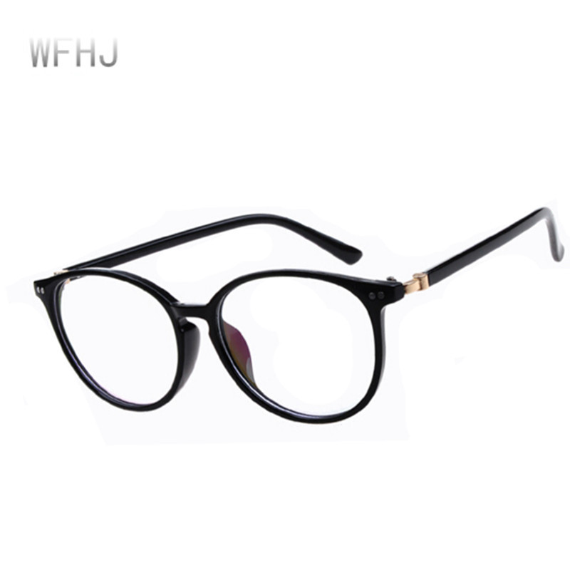 7d567d541f Latest Bright Black Students Glasses Frames Men Rivet Eyeglasses Anti  Radiation Retro Round Reading Glasses Frames Free Shipping