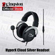 Kingston oyun kulaklığı HyperX Bulut Gümüş oyun kulaklığı Kulaklık bir mikrofon Ile Yeni Varış 2017