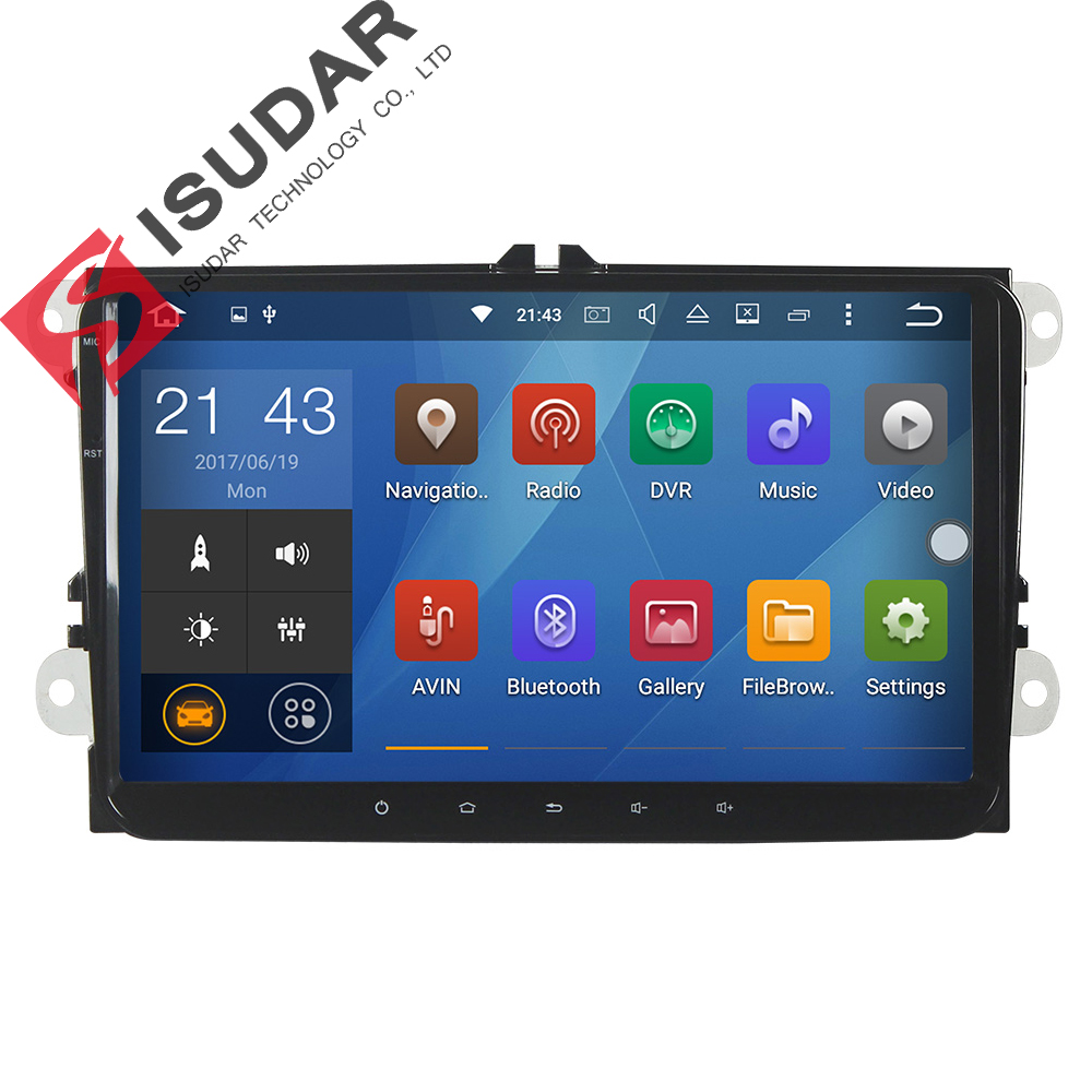 Android 6.0.1 2 Two Din 9 Inch Car DVD GPS Player For VW/Volkswagen/POLO/PASSAT/Golf/Skoda/Octavia/Seat/Leon Navigation Radio junsun 7 2 din car dvd gps radio stereo player for volkswagen vw golf 6 touran passat b7 sharan touran polo tiguan free gift