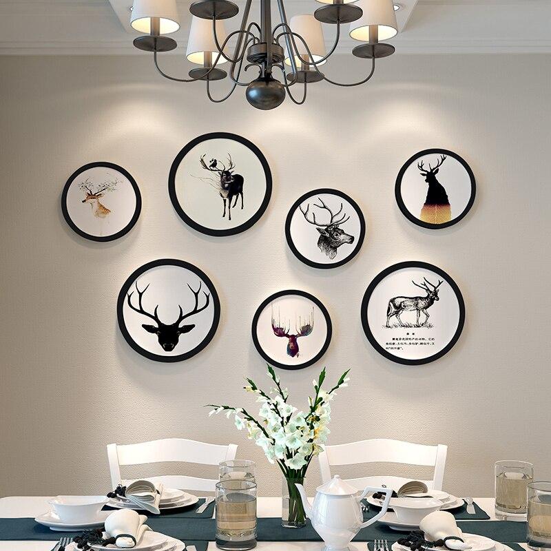 Европейский стиль домашний дизайн Свадебная любовь фоторамка украшение стены деревянная фоторамка набор настенная фоторамка набор, белый черный - 5