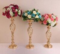 Гальваническим Кованые Подсвечник из 3 предметов Европейский Свадьба дорога приведет события вечерние гостиной украшением праздничного п