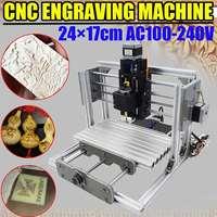 DC 12V DIY Mini 3 Axis CNC Engraving Milling Machine Assembly Kit Metal Engraver PCB Milling Machine Working Area 24x17cm