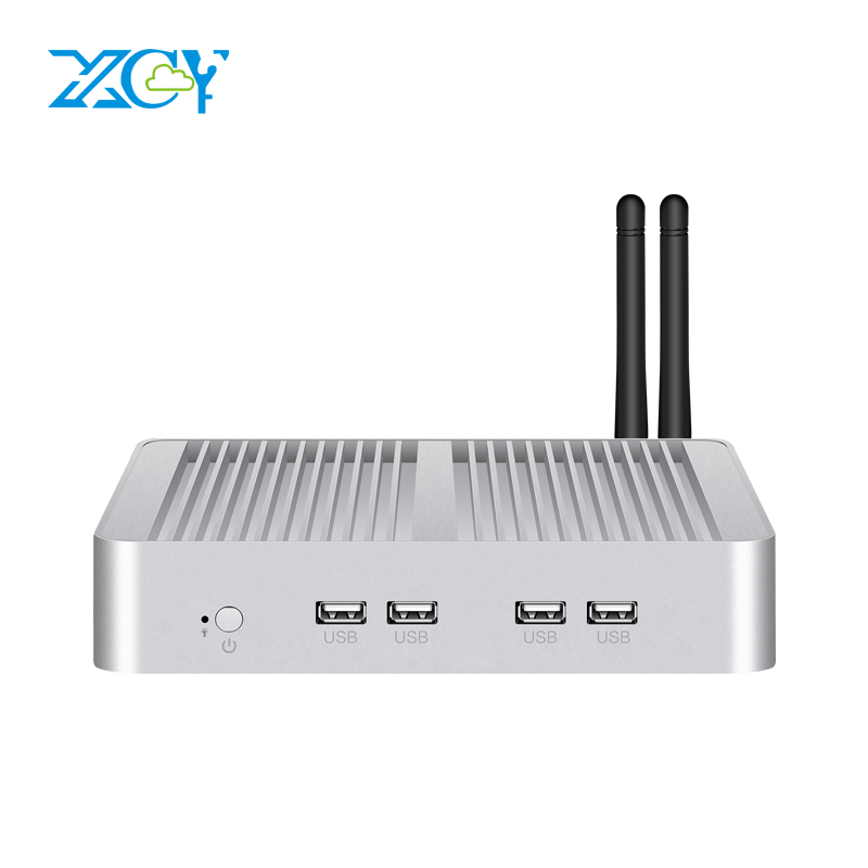 XCY X26W Mini PC I7-5500U Windows 10 HTPC 8xUSB HDMI VGA WiFi Gigabit Ethernet 3G/4G LTE Fanless Micro Desktop Computer