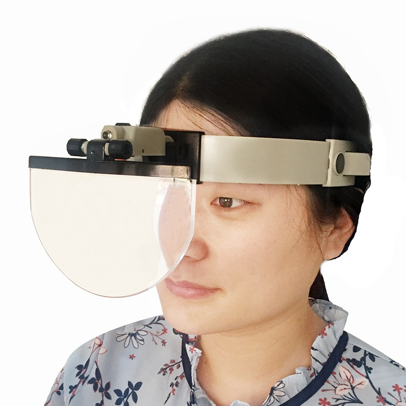 Image 5 - Large Lens Head Wearing Magnifying Glass with LED Illuminated Hand Free Reading Magnifier 2X 3.5X 4.5X 5.5X  f/ Collection Stamp-in Magnifiers from Tools