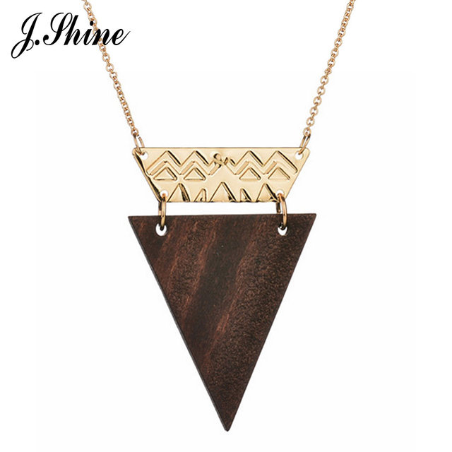 Jshine vintage concise triangle wooden pendants necklaces jshine vintage concise triangle wooden pendants necklaces accessories collier long necklace women femme fashion jewelry aloadofball Image collections
