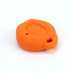 Image 2 - PREISEI 실리콘 키 커버 푸조 자동차 206 원격 키 수호자 가방 오렌지 블랙 레드 블루 그린 그레이 색상