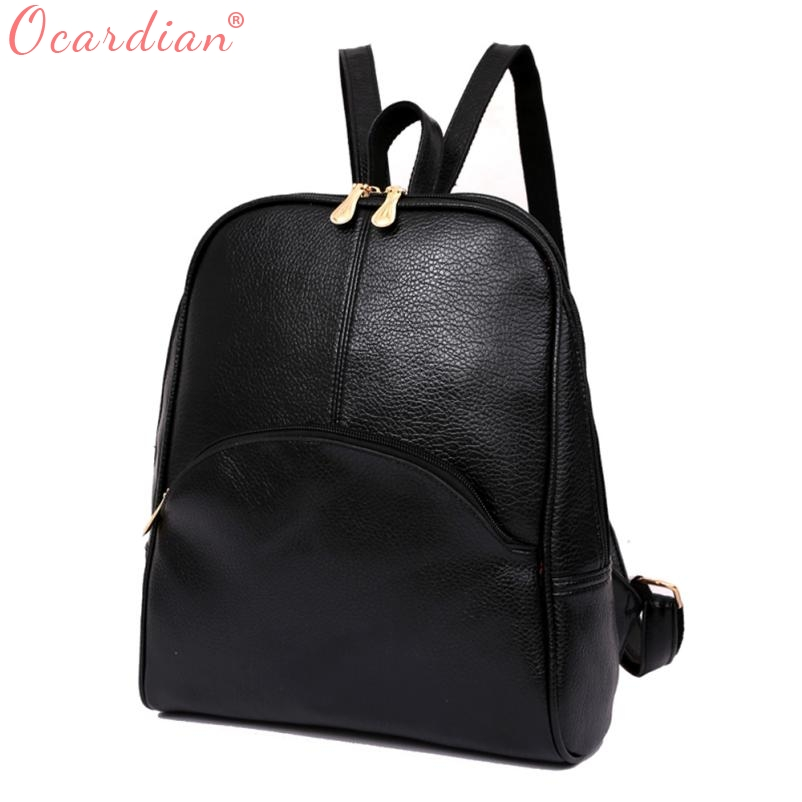 Ocardian Women Backpack Leather Backpacks Softback Bags Brand Name Bag Preppy Style Bag Casual Backpacks Teenagers Backpack X99 #4