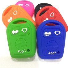 Silicone Rubber car key fob cover cap set shell protect skin for BMW E31 E32 E34 E36