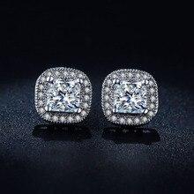 Crystal Square Earrings