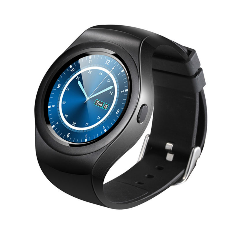 New Arrival Circle Touch Screen font b Smartwatch b font V365 for IOS Android Sport Fitness