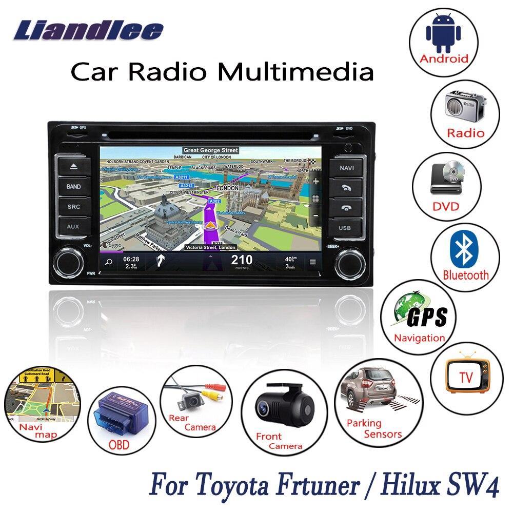 Lecteur CD DVD pour autoradio Android Liandlee pour Toyota Frtuner/Hilux SW4 2005 ~ 2014 GPS Navi cartes de Navigation caméra OBD écran TV