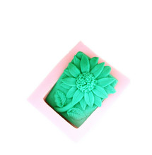 silicone mold soap molding tool sunflower pattern Silicone molds Handmade Craft Casting Clay Cement Salt Carving mould