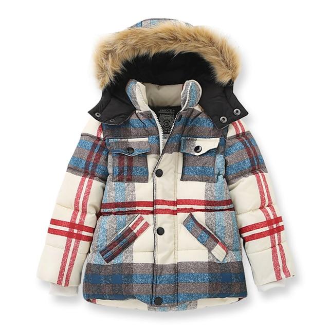 Зимняя куртка для мальчиков плотное пальто из искусственного меха с капюшоном и воротником для мальчиков-подростков куртки детская теплая верхняя одежда брендовая детская одежда 2-10Yrs