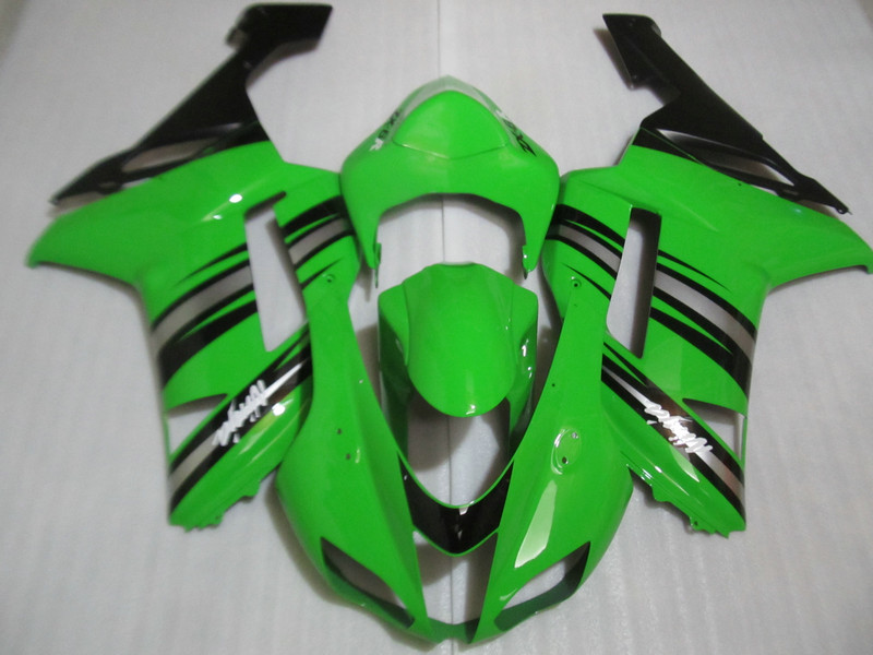 Motorcycle Fairing kit for KAWASAKI Ninja ZX6R 07 08 ZX6R 636 2007 2008 zx 6r 07 08 Green black ABS Fairings set +7 gifts TR53