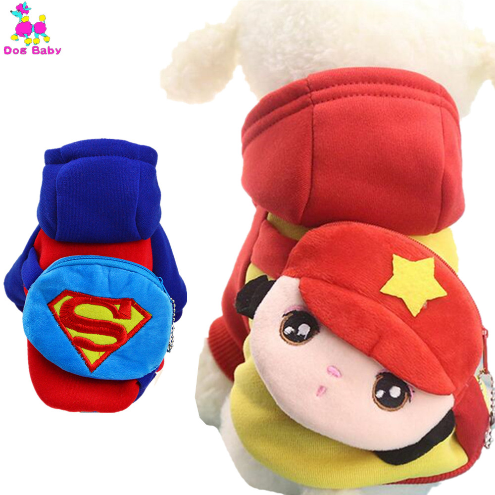 DOGBABY Red Blue Dog Hoodies Coin Pocket Design Ropa para mascotas - Productos animales