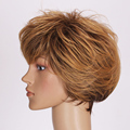 Latest Fashion Style Hair Wig Brown And Blonde Mixed Synthetic Hair Wig Short Straight Hair Wig short hair cuts WIG012 z65