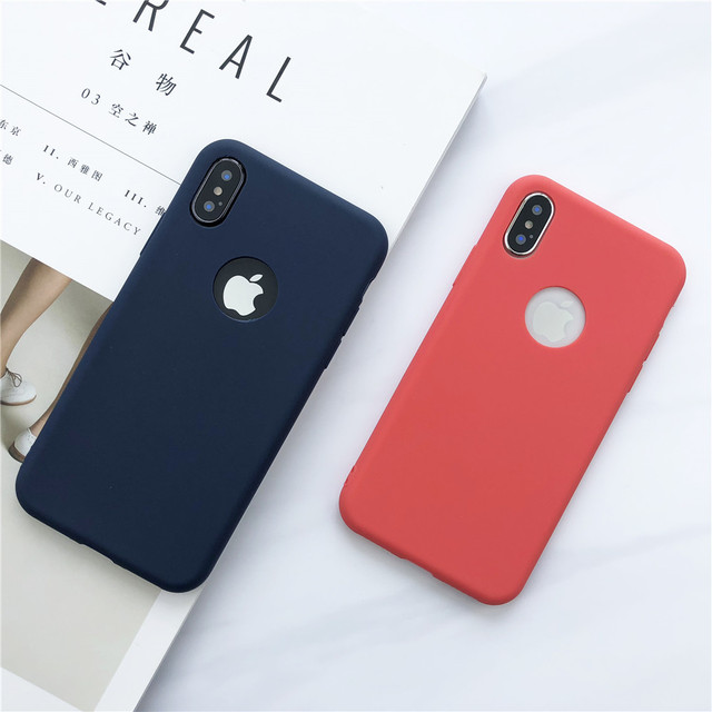 huge selection of 42bb0 111a6 Soft Silicone Case For iPhone 8 8 Plus Mobile Phone TPU Case For iPhone X  10 Ultra Thin Plain Candy Color Back Cover For Apples-in Fitted Cases from  ...