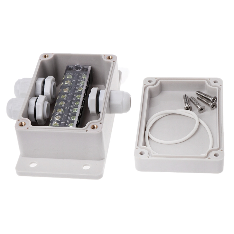 ABS Waterproof Junction Box Electric Enclosure Case 15A 600V Terminal Connector
