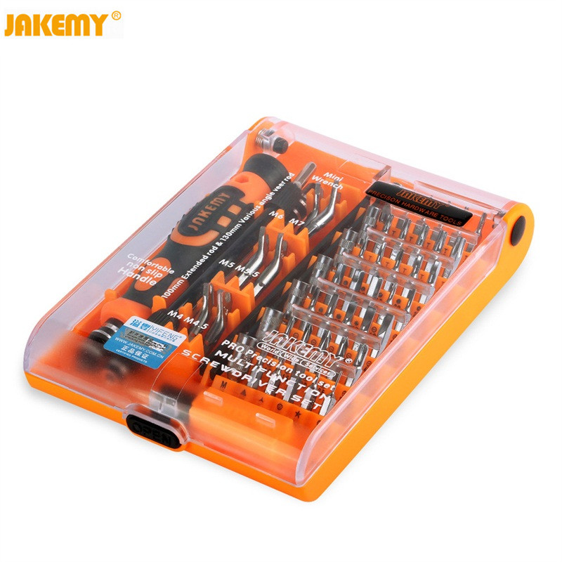 цена на JAKEMY JM-8150 52 in 1 computer Laptop repair set hand tools precision Screwdriver Bit Set case DIY Screwdriver for PC iPhone