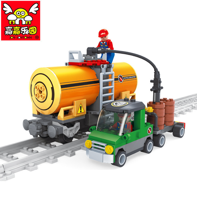Ausini model building kits compatible with lego city train 451 3D blocks Educational model & building toys hobbies for children цена