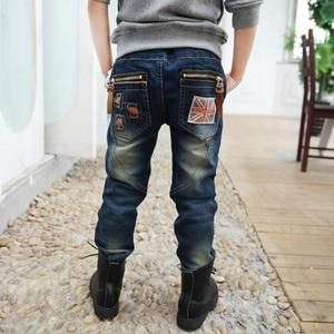 Image 4 - Boys pants Autumn Children Jeans 2019 Spring Boys Kids Pencil Pants Denim Trousers. Suitable: 4 6 8 10 12 14  years old