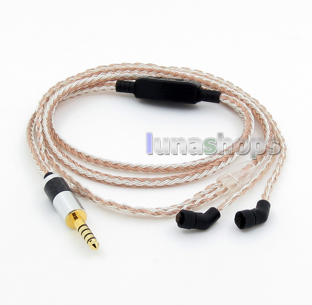 4.4mm Balanced 16 Cores OCC Silver Mixed Headphone Cable For AKR03 Roxxane JH Audio JH24 Layla Angie AK380 AK240 frequency divider adapter for jh audio jh24 roxanne akr03 layla angie earphone pin 1pcs
