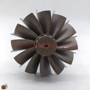Image 4 - HX40/HX40W Turbo teile Turbine rad 67mm * 76mm 12blades, lieferant AAA Turbolader Teile