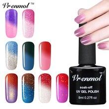 Vrenmol 1 шт замочить от УФ-гель для ногтей настроения температуры теплового изменения цвета лак для ногтей 29 цветов
