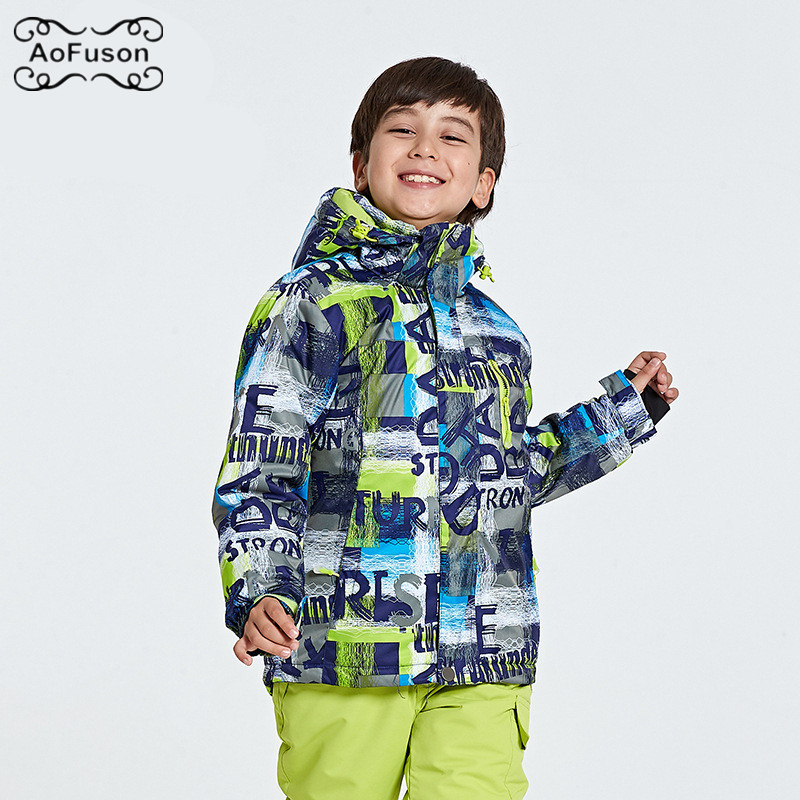 Veste de Ski de Snowboard pour enfants chaud respirant imperméable hiver Ski de neige garçon filles manteaux randonnée vêtements de Ski pour enfants 2019 nouveau