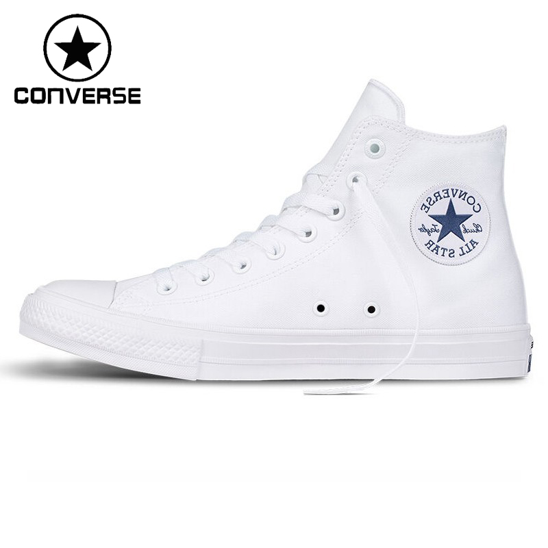 Original New Arrival Converse Chuck Taylor ll Unisex High top Skateboarding Shoes Canvas Sneakers new converse chuck taylor all star ii low men women s sneakers canvas shoes classic pure color skateboarding shoes 150149c