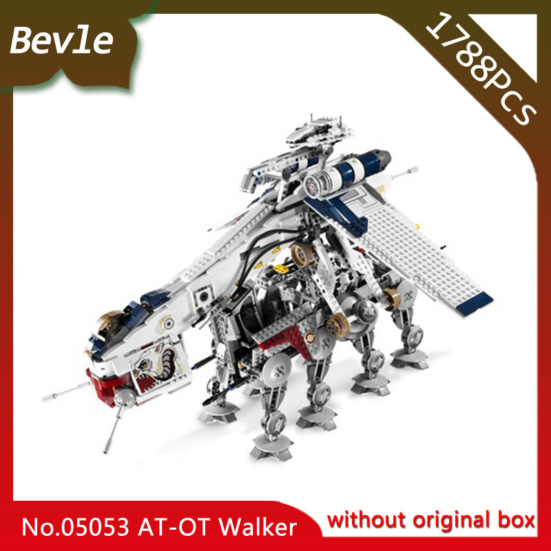 Bevle Store LEPIN 05053 1788pcs  Star Wars Series Republic Dropship warships Model Building Blocks Bricks Children Toys 10195 managing the store