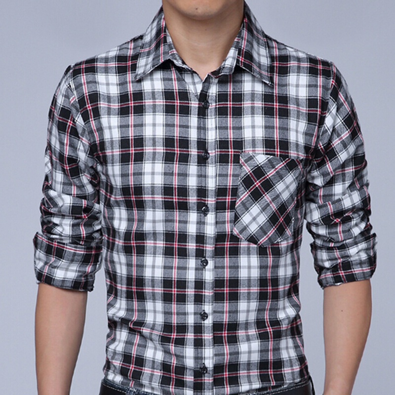 af24800c66 2016 Brand Shirts Mens Camisa Xadrez Check shirts Design Slim Fit Long  Sleeve Pattern Social Casual Shirts Chemise Homme FHY133-in Casual Shirts  from Men s ...