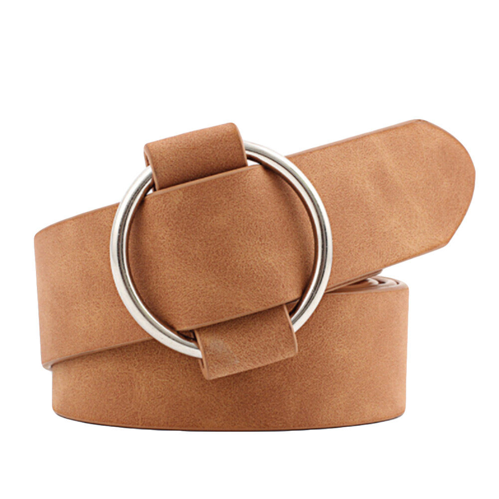 New Fashion Womens Designer Round Casual Ladies Belts For Jeans Modeling Belts Without Buckles Leather Belt