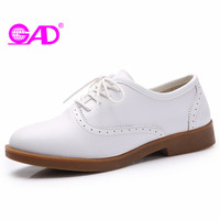 GAD Superstar Shoes Women 2017 Spring Autumn New Arrival Round Toe Lace Up Women Oxford Shoes