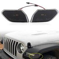 Front LED Turn Signal Lights For Jeep JL 2018 2019 Wrangler JL Turn Lamp Fender Side Marker Parking Lights