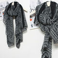 Fashion Cotton Winter Scarves Women Print Women Lady Vintage Long Soft Cotton Voile Printed Scarves Shawl Wrap Scarves