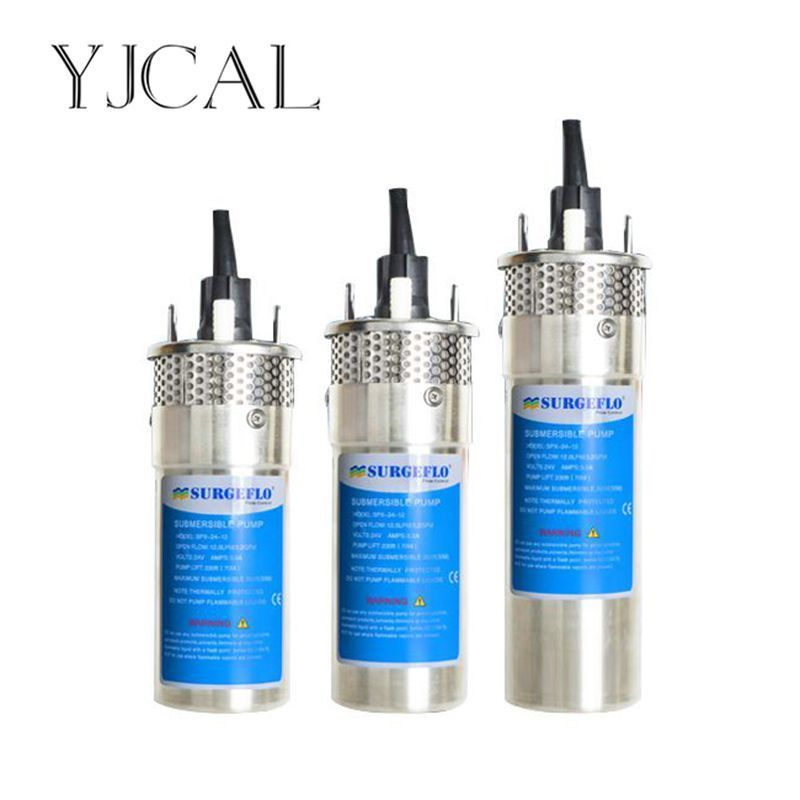 DC 12V 24V Micro Stainless Steel Solar Submersible Water Pump 8 12 20L High Head Deep