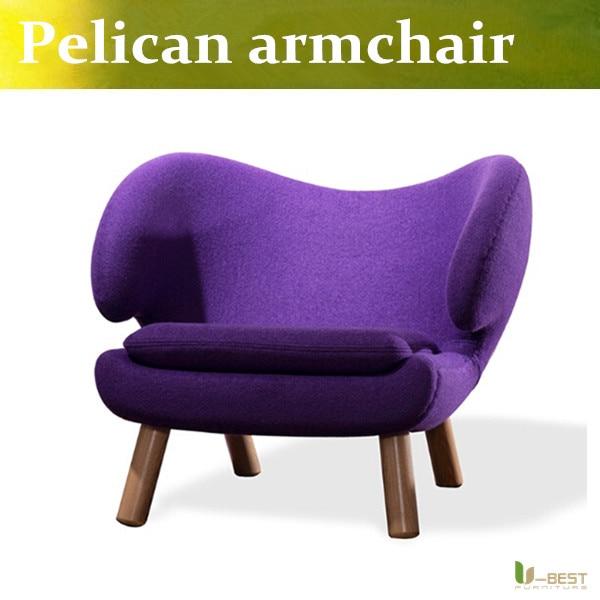 U-BEST Pelican Chair Inspired By Finn Juhl Red Cashmere & Wool in Home, Mid Century Accent Chair Wool purple набор кухонных ножей квартет кизляр