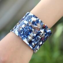 Luxury 5.5CM Wide Opening Wrist Bangle For Women Leopard Print Acetic Acid Cuff Dubai Bracelet Tortoiseshell Resin Pulseira недорого